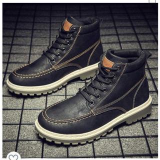 27cm ブーツ メンズ 靴 冬用 ショートブーツ ハイカットブ...