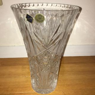 チェコ製 ボヘミアクリスタル 花瓶