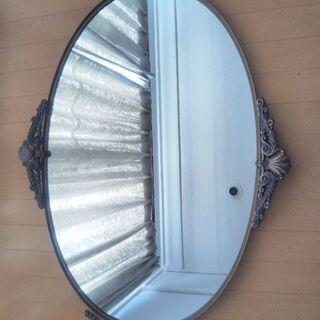 鏡 大鏡 姿見 大型 壁掛け鏡 ウォールミラー ロココ調 ビンテ...