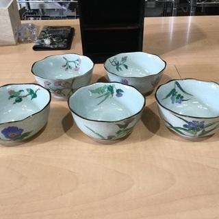 【有田焼】花柄小鉢5皿セット 未使用品