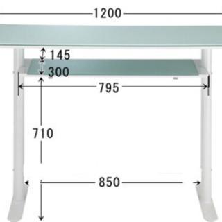 ガラス カウンターテーブル