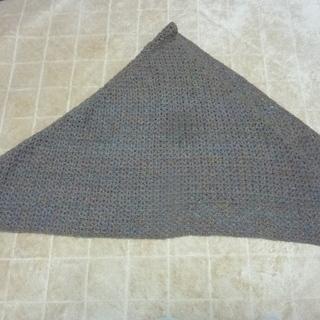 ハンドメイド 毛糸手編み ストール