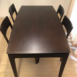 アクタス ダイニングテーブル 5点セット 家具 ブラウン