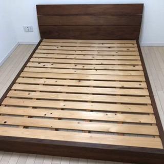 アクタス ベッド クイーンサイズ すのこ マットレスなし