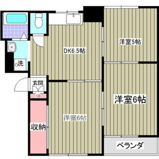 初期費用なんと14万円!! 常磐線金町駅徒歩5分3DKマンション...