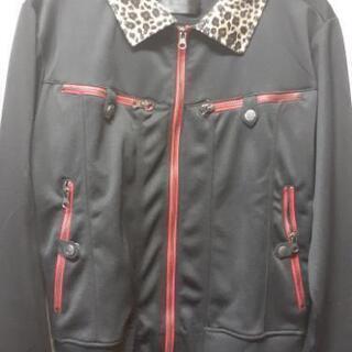 レオパード (ヒョウ柄) 襟 スカル ジャケット アウター