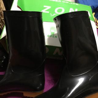 【値下げ】未使用 長靴24.5cmスーパーゾナ耐油