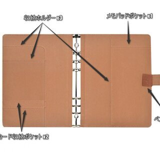 【MYC】 ツヤ無し マット PUレザー A5 メモ帳 システム手帳 (ブラウン、グリー、グレー、ブルー)  - 富山市