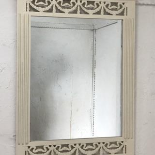 姫系 大きめ壁掛けミラー