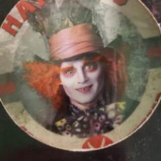アリスインワンダーランド 絵皿 皿 ジョニーデップ