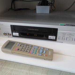 シャープ VHS ビデオデッキ VC-H106 リモコン付き