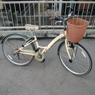 取引中です。26インチ折り畳み式自転車 6段変速