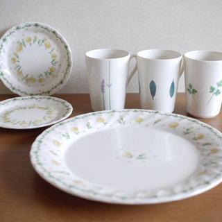 食器(カップ3、ソーサー2、大皿1)
