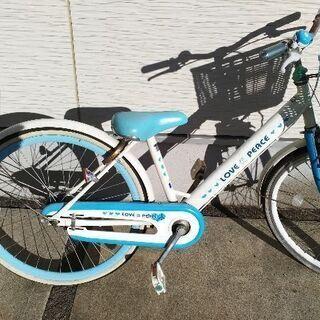 24インチ 子供 女の子 水色 自転車