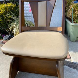 座椅子部分が動く椅子 中古の画像