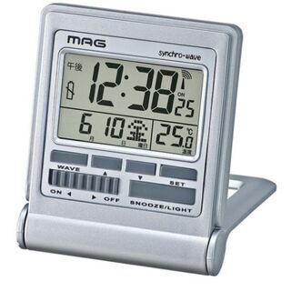 未使用未開封 携帯に便利な電波時計 「電池お付け致します」