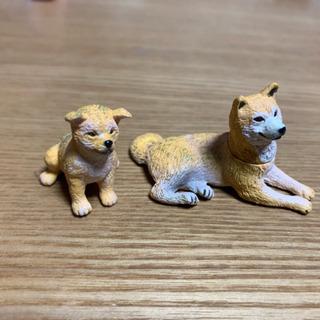 柴犬 フィギュア 親子