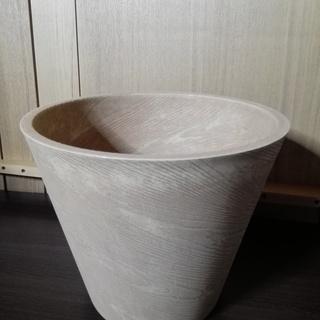 【未使用】プラスチックプランター 木目調