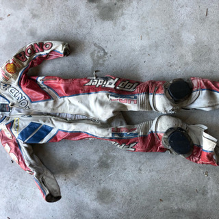 【走り屋】南海 レーシングスーツ 革ツナギ