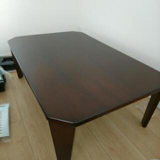 ニトリ 折り畳みテーブル ブラウン
