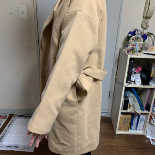 コート オーバーサイズ ノーカラー