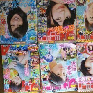 6人女優のグラビア(週刊マガジン)