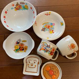アンパンマン 陶器 食器 7点セット
