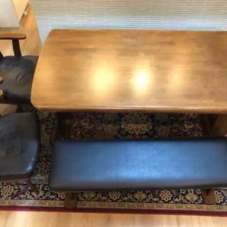 ダイニングテーブルセット ダイニングテーブル 回転椅子 ベンチ ...