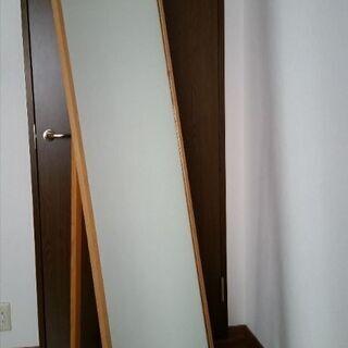 木製枠 全身鏡 姿見鏡 スタンドミラー サイズ
