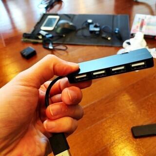 【USBハブ】バッファロー(4ポート) + ACASIS(4ポート)