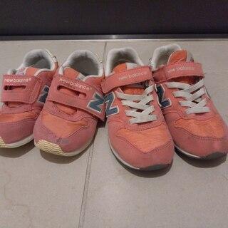 【ニューバランス】16.0・18.5 スニーカーペアセット [ピンク]