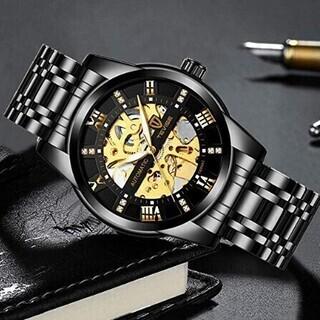 【一台のみ】メンズ腕時計 機械式 スケルトン