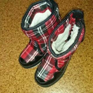 キッズ ジュニア 防寒 ブーツ 15cm