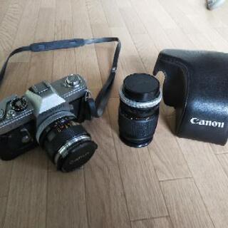 アンティーク キャノン カメラ(日本製)と望遠レンズ