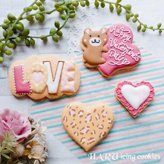 バレンタイン アイシングクッキーレッスン