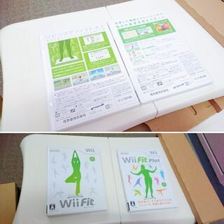 Wii Fit とWii Fitプラスのソフト2本付き☆