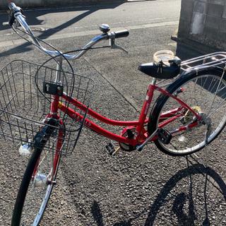 ★自転車 赤 26インチ