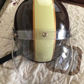 CROSS イヤーカバーとシール美品,ド付バイク用クラシックハーフヘルメット  サイズ57-60cm - 岡崎市