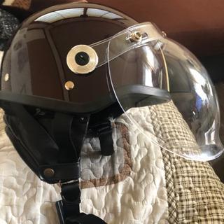 CROSS イヤーカバーとシール美品,ド付バイク用クラシックハーフヘルメット  サイズ57-60cm − 愛知県