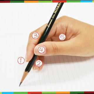 「愛キャラ文字」(美文字)の「鉛筆の持ち方」
