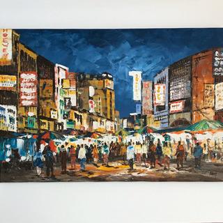絵画/ kuala lumpur Night market  /...
