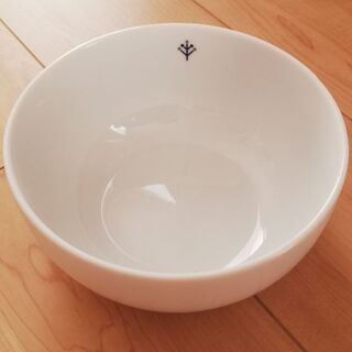 Francfranc ボウル シンプル ホワイト 陶器 18cm...