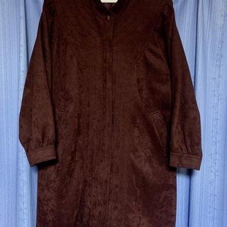 レディース ロングコート 臙脂色 Lサイズ ALBEIL