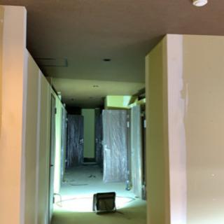インテリアクロス貼り、床貼り施工