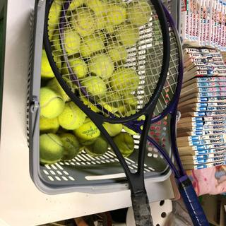 テニスラケットx2&ボール