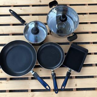 中古⭐️鍋&フライパン🍳まとめて5点セット