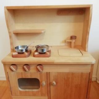 【値下げしました】ままごとキッチン 木製