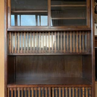 ガラス引戸棚◆水屋箪笥 食器棚
