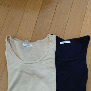 カシミアタッチセーター2枚