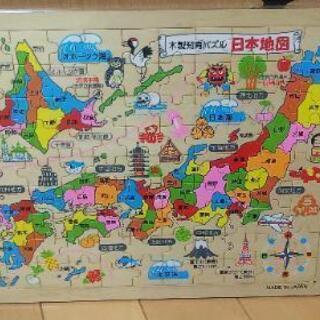日本地図パズル 木製知育パズル
